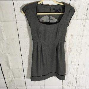 French Connection Gray Wool/Cashmere Blend Dress.
